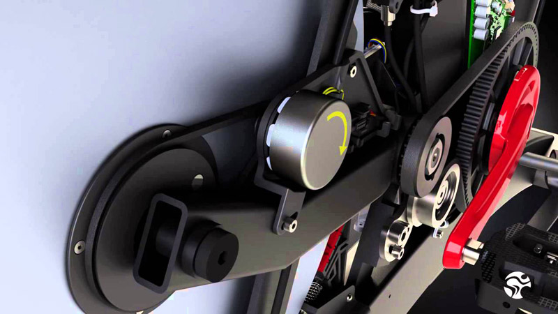 喬山Matrix IC7 飛輪健身車:飛輪訓練車傳動系統