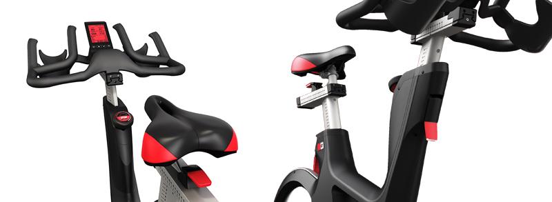 喬山Matrix IC7 飛輪健身車:氣壓輔助調整座管及把手