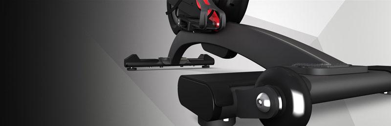 喬山Matrix IC7 飛輪健身車:後貼地桿保護裝置