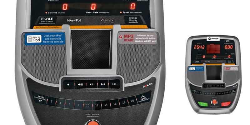 14組運動程式和iPod®功能,可配合不同運動模式