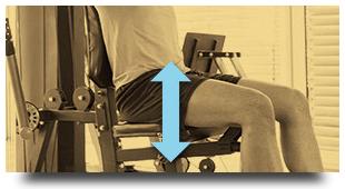 可調節的舒適座椅
