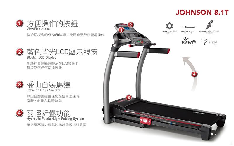 JOHNSON 8.1T 實境互動跑步機