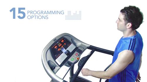 內建15組模擬預設運動程式