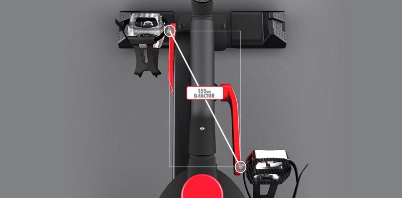 喬山Matrix IC7 飛輪健身車:飛輪車Q-Factor