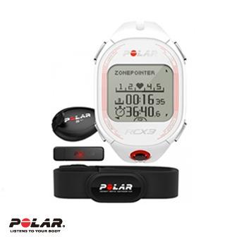 Polar RCX3F 女用白色二鐵心率錶含S3+步速傳感器及資料傳輸器(DataLink)