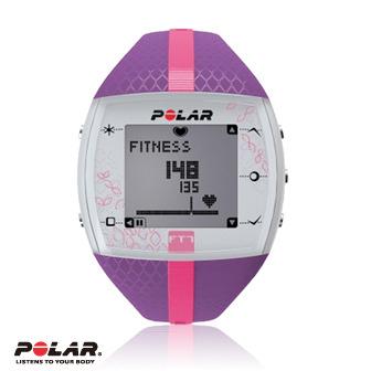 Polar FT7F 女用紫色粉紅紋鍛煉鬥志專業心率錶,支援FlowLink