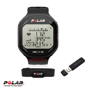 Polar RCX5 雙頻心率錶,超級鐵人三項專用黑色,含DataLink 數據傳送器
