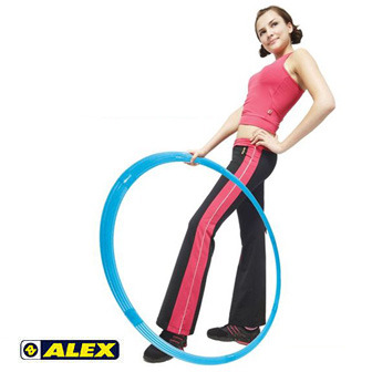 ALEX 窈窕組合式呼拉圈(水藍)