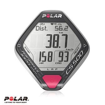 Polar CS500 CAD 觸動式操作自行車用心率碼錶含胸帶、速度及圈數傳感器