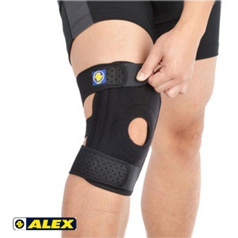 ALEX 矽膠雙側條護膝