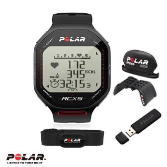 Polar RCX5 Bike 雙頻心率錶,超級鐵人三項專用黑色含Speed及DataLink 數據傳送器