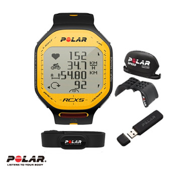 Polar RCX5 TDF BIKE 雙頻心率錶,超級鐵人三項專用,環法賽限量紀念版含BIKE配件