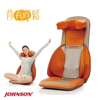 JOHNSON 背FUN鬆 肩頸背按摩背墊︱CM360