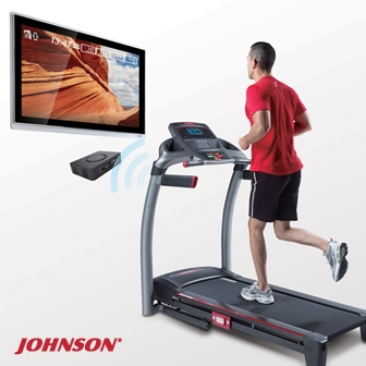 JOHNSON 8.1T 實境互動跑步機(含Passport套裝組合)