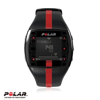 Polar FT7M 男用黑色紅紋鍛煉鬥志專業心率錶,支援FlowLink