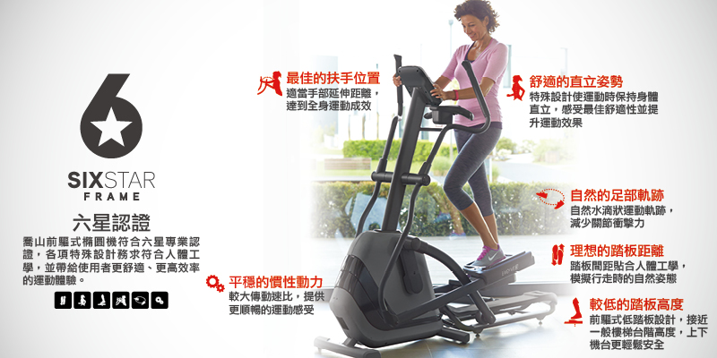 HORIZON Andes 7i elliptical/cross trainer, six-star certification