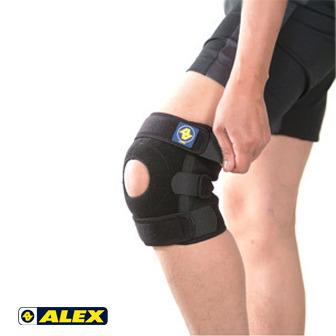 ALEX 矽膠單側條護膝