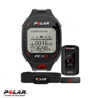 Polar RCX3M 男用黑色二鐵心率錶含G5 GPS及資料傳輸器(DataLink)