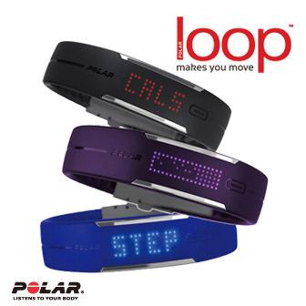 Polar Loop 智能運動手環 / 智慧手環錶 (黑/藍/紫)