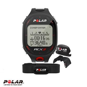 Polar RCX3M Bike男用黑色二鐵心率錶含速度傳感器